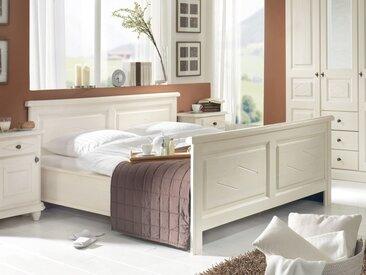 Romance | Traumhaftes Bett im Landhausstil | Aus beruhigender Fichte 140*200 |Außenmaß 159*209 Fichte Weiß lackiert