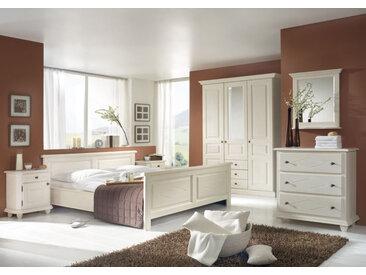 ROMANCE | Schlafzimmer im Landhausstil | Hochwertige Fichte | 6tlg. 200*200 |Außenmaß 219*209 4-Türig Variante A Zirbe naturbelassen