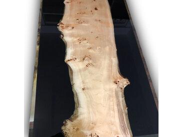 SIDE RIVER | Exklusiver Tisch aus Epoxidharz und Massivholz |  Zwei Seitliche Flüsse 190cm 90cm