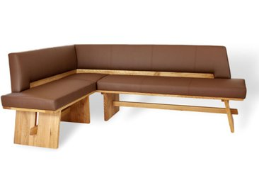 UNIQUE | Exklusive und zugleich traditionelle Eckbank in Kunstleder/Stoff 260cm 190cm