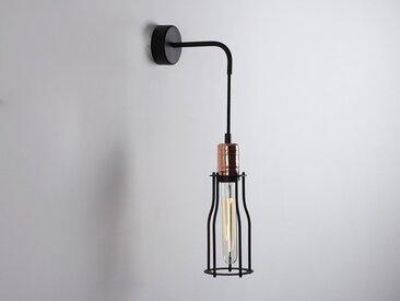 Wandlampe WORKER TALL WALL – Schwarz