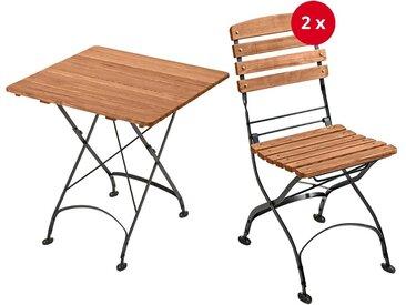 """Gartenmöbel-Set """"Maja"""", 3-teilig, Tisch 80 x 80 cm, 2 Stühle"""