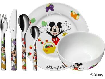 WMF Kindergeschirr, 6-teilig  Mickey Mouse - mehrfarbig - Porzellan, Edelstahl - Möbel-Kraft