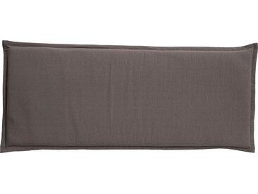 GO-DE Zweisitzer-Bankauflage - grau - garngefärbtes Uni, 60% Baumwolle, 40% Polyester - 46 cm - 6 cm - Möbel-Kraft
