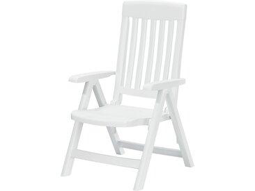 Sieger Garten-Klappsessel  Palma - weiß - Polypropylen - 62 cm - 105 cm - Möbel-Kraft