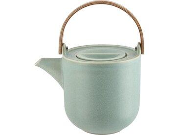 ASA SELECTION Teekanne mit Holzgriff  Coppa Minto - grün - Holz, Metall, Porzellan - 17,5 cm - 14,5 cm - 12,6 cm - Möbel-Kraft