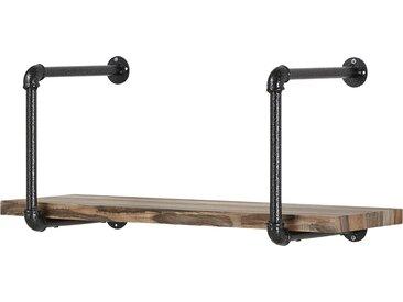 Wandregal - holzfarben - 80 cm - 36,5 cm - 30 cm - Möbel-Kraft