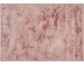 HOME STORY Hochflorteppich  Bunny - rosa/pink - Synthethische Fasern - 80 cm