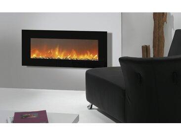 Hängekamin - schwarz - 127 cm - 49 cm - 14 cm - Möbel-Kraft