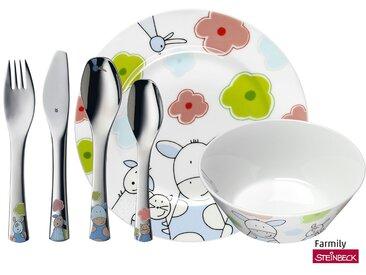 WMF Kindergeschirr, 6-teilig  Farmily - mehrfarbig - Porzellan, Edelstahl - Möbel-Kraft
