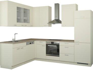 Winkelküche ohne Elektrogeräte - creme - Möbel-Kraft