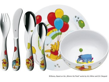 WMF Kindergeschirr, 6-teilig  Winnie the Pooh - mehrfarbig - Porzellan, Edelstahl - Möbel-Kraft