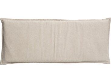 GO-DE Zweisitzer-Bankauflage - beige - Mischgewebe, 85% Baumwolle, 15% Polyester - 48 cm - 6 cm - Möbel-Kraft