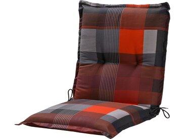 GO-DE Niederlehnerauflage - rot - Druckstoff, 50% Baumwolle, 50% Polyester - 50 cm - 7 cm - Möbel-Kraft