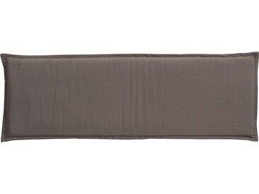 GO-DE Dreisitzer-Bankauflage - grau - garngefärbtes Uni, 60% Baumwolle, 40% Polyester - 46 cm - 6 cm - Möbel-Kraft