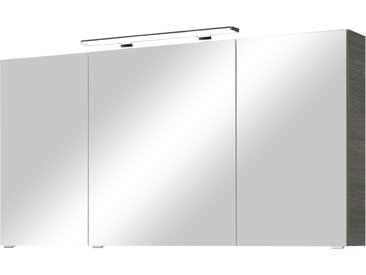 calmoquick Spiegelschrank - grau - 140 cm - 70,3 cm - 17 cm - Möbel-Kraft
