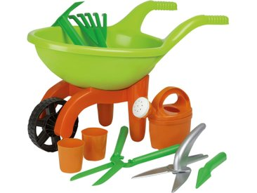 Schubkarre mit Gartenwerkzeug, 9-teilig - grün - Kunststoff (Polypropylen) - 29 cm - 27 cm - Möbel-Kraft