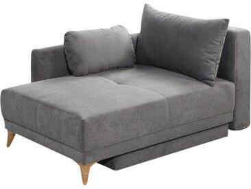 Recamiere mit Schlaffunktion - grau - Möbel-Kraft