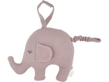 Spieluhr - rosa/pink - Füllung aus 100% Polyester, Bezug aus 100% Baumwolle (gehäkelt) - Möbel-Kraft