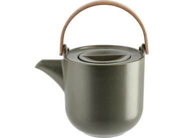 ASA SELECTION Teekanne mit Holzgriff  Coppa Nori - grün - Holz, Porzellan, Metall - 17,5 cm - 14,5 cm - 12,6 cm - Möbel-Kraft