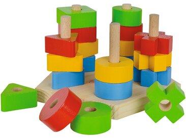 Eichhorn Steckplatte - mehrfarbig - Platte und Stäbe aus Kiefer massiv, lackiert Bausteine aus Buche massiv, lackiert - Möbel-Kraft