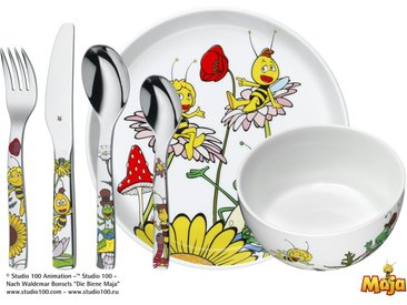 WMF Kindergeschirr, 6-teilig  Biene Maja - mehrfarbig - Porzellan, Edelstahl - Möbel-Kraft