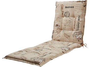 GO-DE Liegenauflage - beige - 85% Baumwolle, 15% Polyester - 60 cm - 7 cm - Möbel-Kraft