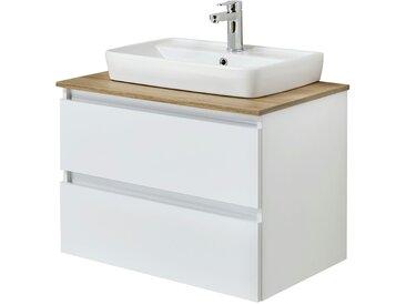 Waschtischkombination - weiß - 78 cm - 64,2 cm - 50 cm - Möbel-Kraft