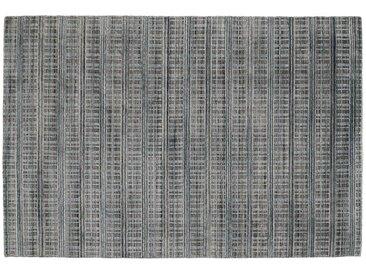 Nepal Teppich - türkis/petrol - Viskose, Wolle, 80% Viskose, 20% Wolle - 120 cm - Möbel-Kraft