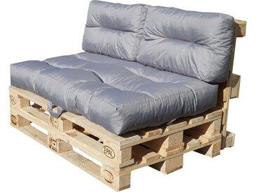Palettenkissen-Set - grau - Möbel-Kraft