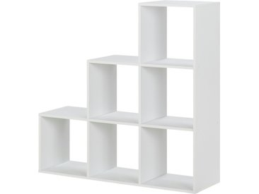 Stufenregal  Ursini - weiß - Möbel-Kraft