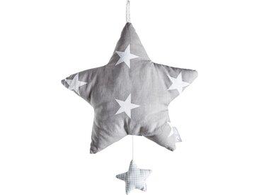 Roba Spieluhr  Little Stars - grau - Bezug: 65% Polyester, 35% Baumwolle, Füllung: Polyestervlies - Möbel-Kraft