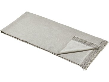 LAVIDA Sofaläufer  Uni - grau - 60% Baumwolle, 40% Polyacryl - 100 cm - Möbel-Kraft
