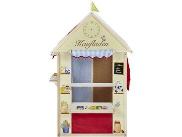 Roba Spielhaus  4 in 1 - mehrfarbig - Rahmen Massivholz Pappel farbig lackiert, Seitenwände bedrucktes MDF - 82,5 cm - 138 cm - 94,5 cm - Möbel-Kraft