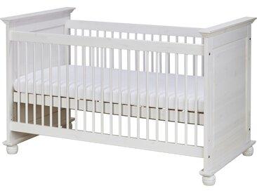 Massivholz-Babybett - weiß - 85 cm - 93 cm - 85 cm - Möbel-Kraft