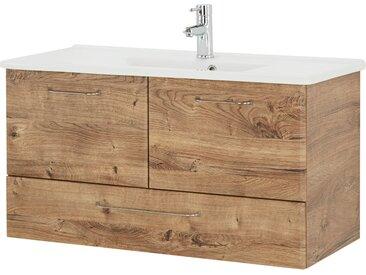 smart Waschtischunterschrank  Onda - holzfarben - 96 cm - 51 cm - 44 cm - Möbel-Kraft