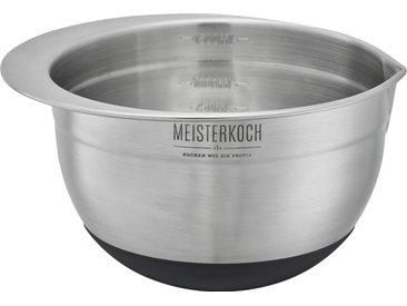 Meisterkoch Schüssel 1,5 Liter - silber - Edelstahl - 10 cm - Möbel-Kraft