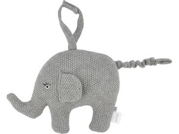 Spieluhr - grau - Füllung aus 100% Polyester, Bezug aus 100% Baumwolle (gehäkelt) - Möbel-Kraft