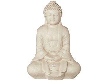 Buddha - creme - Magnesia - 15 cm - 21,5 cm - 9 cm - Möbel-Kraft