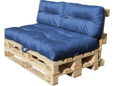 Palettenkissen-Set - blau - Möbel-Kraft