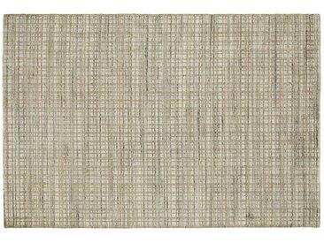 Nepal Teppich - beige - Wolle, Viskose, 80% Viskose, 20% Wolle - 70 cm - Möbel-Kraft