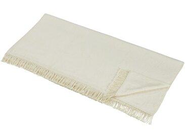 LAVIDA Sofaläufer  Uni - beige - 60% Baumwolle, 40% Polyacryl - 100 cm - Möbel-Kraft
