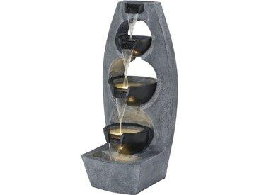 Garten-und Zimmerbrunnen - grau - Polyresin (Kunstharz) - Möbel-Kraft