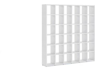 Individualisierbares Regalsystem 6x6 BOON | 216x218x33 cm (LxHxT) | weiß