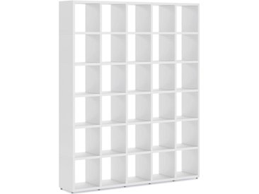 Individualiserbares Regalsystem BOON 5x6 | 181x218x33 cm (LxHxT) | weiß