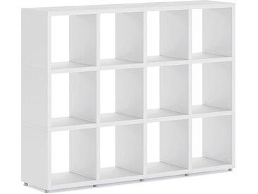 Individualisierbares Regalsystem BOON 4x3 | 145x112x33 cm (LxHxT) | weiß