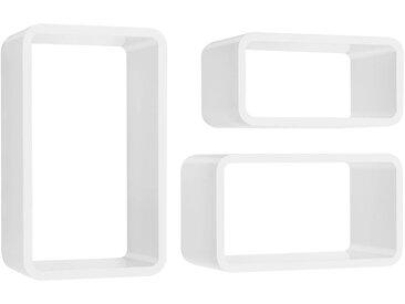 Würfelregal Set LONGCUBE | 3 Stück | weiß hochglanz