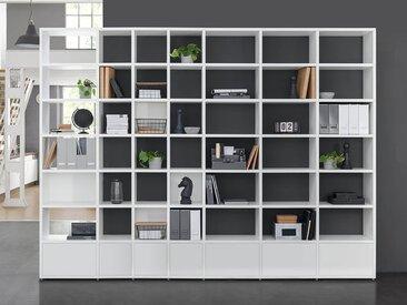 Individualisierbares Regalsystem BOON Mix-9x7-P | 388x254x33 cm (LxHxT) | weiß