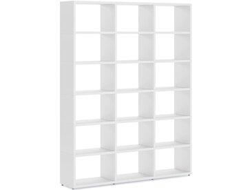 Regalsystem konfigurierbar 3x6 BOON L | 174x218x33 cm (LxHxT) | weiß