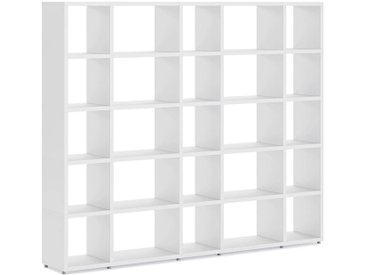 Individualisierbares Regalsystem 5x5 BOON Mix   224x183x33 cm (LxHxT)   weiß